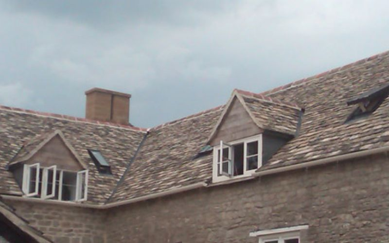 Traditional stone roofing
